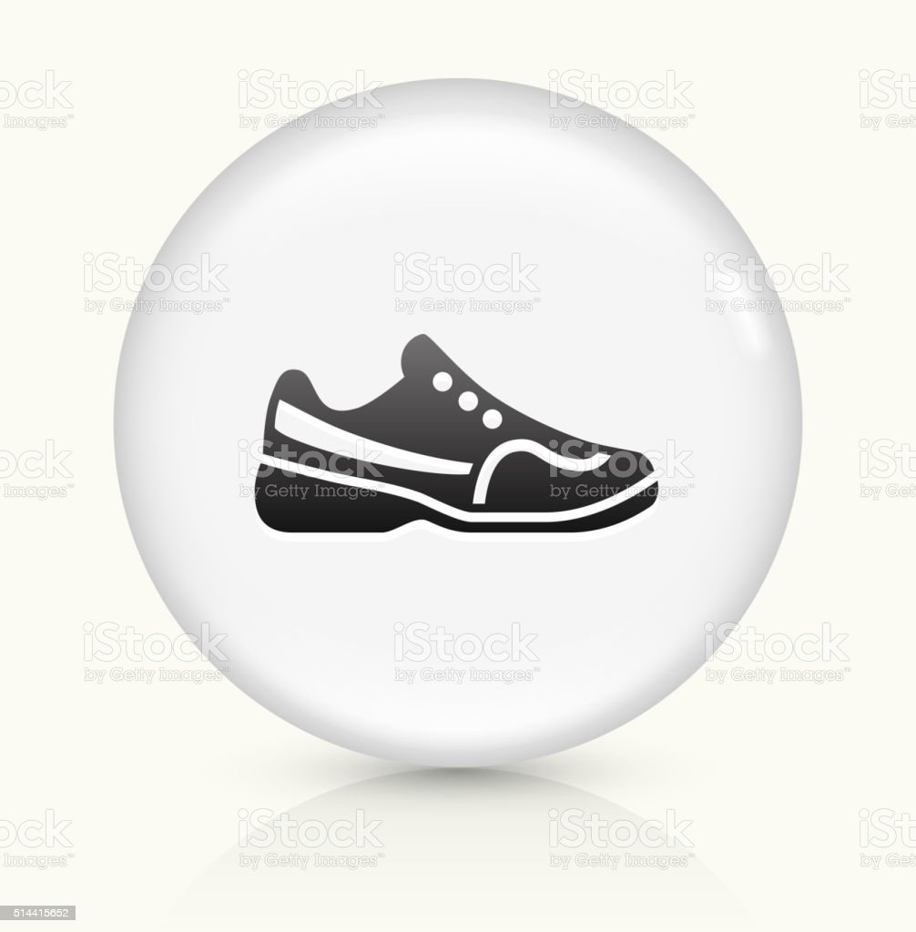 Tennis Shoes icon on white round vector button vector art illustration
