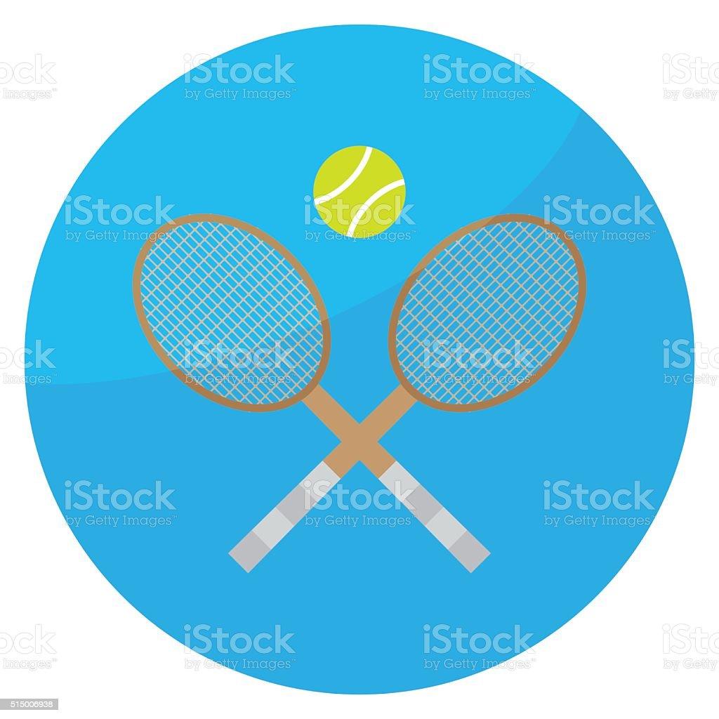 Tennis sport icon vector art illustration