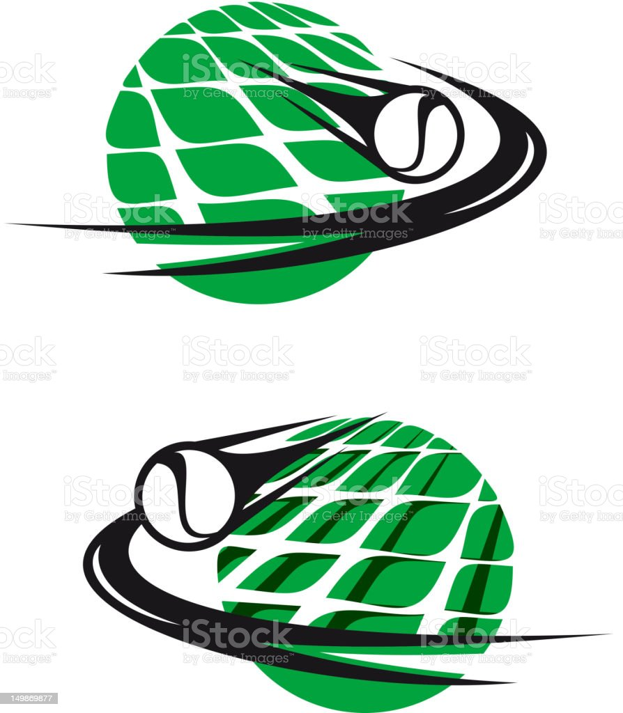 Tennis sports elements royalty-free stock vector art
