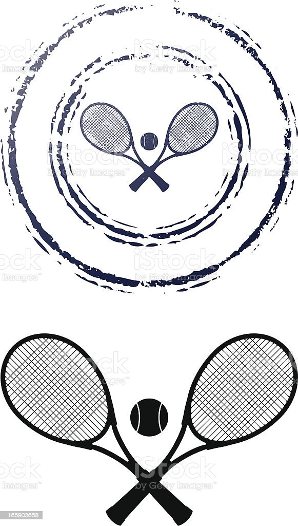 tennis stamp royalty-free stock vector art