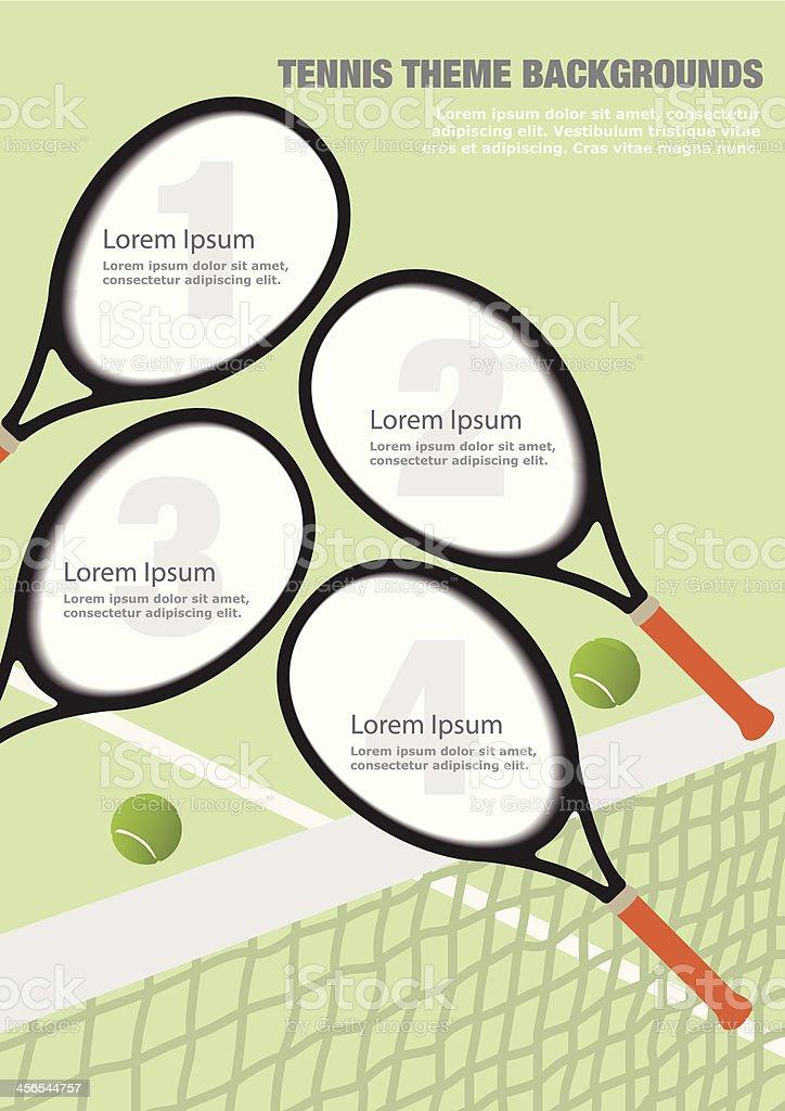 Tennis Theme Backgrounds vector art illustration