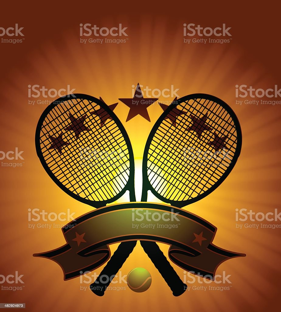 Tennis Tournament Burst Graphic royalty-free stock vector art