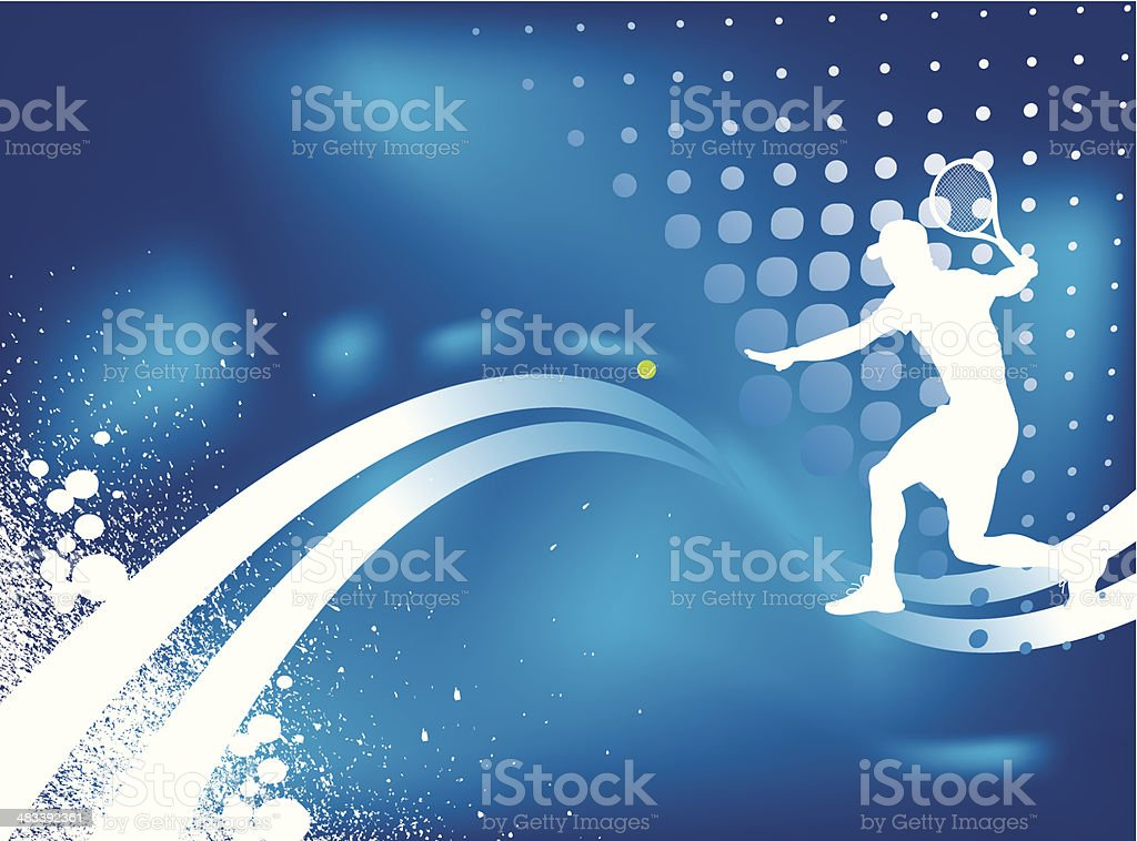 Tennis Tournament Graphic Background royalty-free stock vector art
