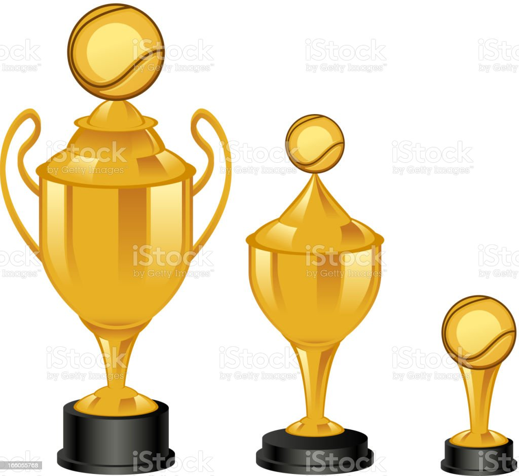 Tennis trophies royalty-free stock vector art