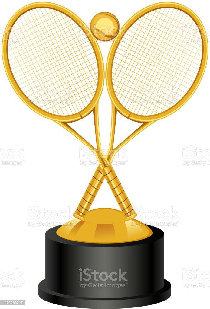 Tennis Trophy Award royalty-free stock vector art