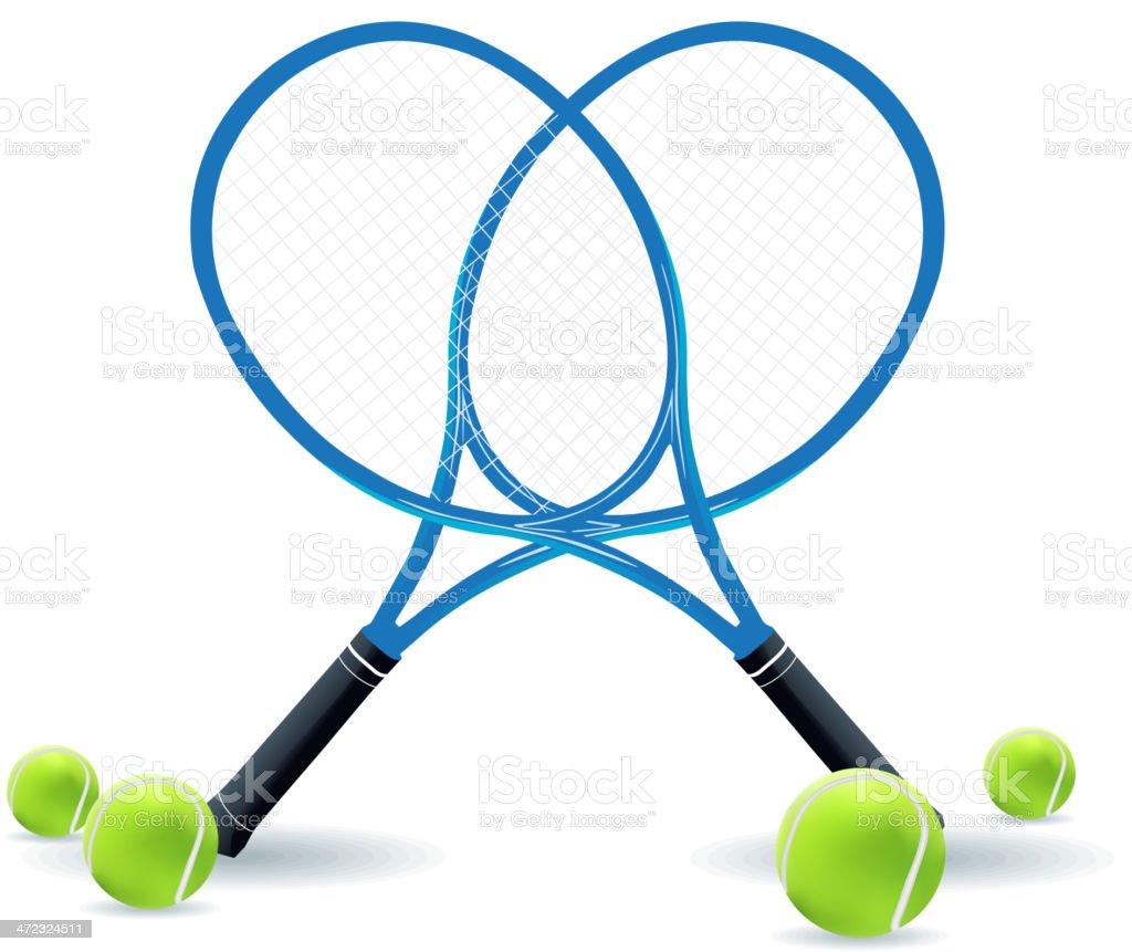 Tennis vector art illustration