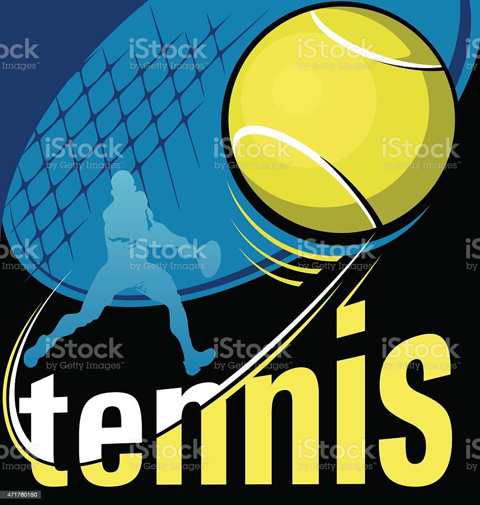 tennis vector poster vector art illustration