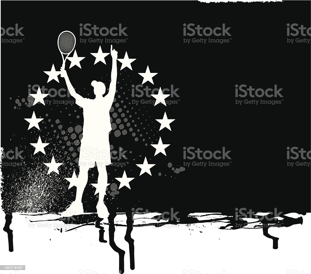 Tennis Victory All-Star Background royalty-free stock vector art