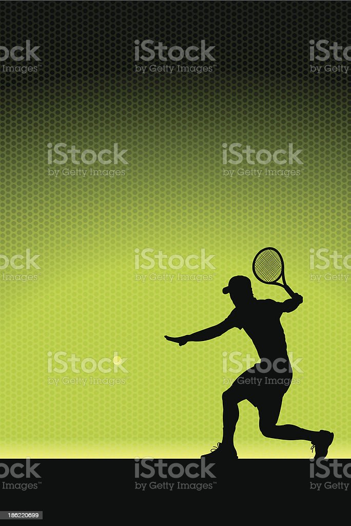 Tennis Volley Background - Male royalty-free stock vector art
