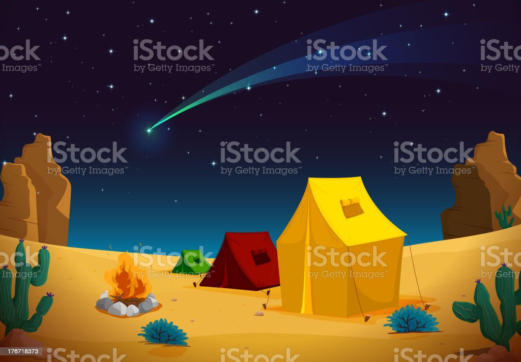 tent house royalty-free stock vector art