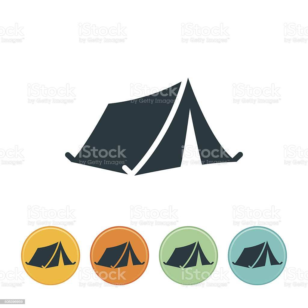 Tent Icon vector art illustration