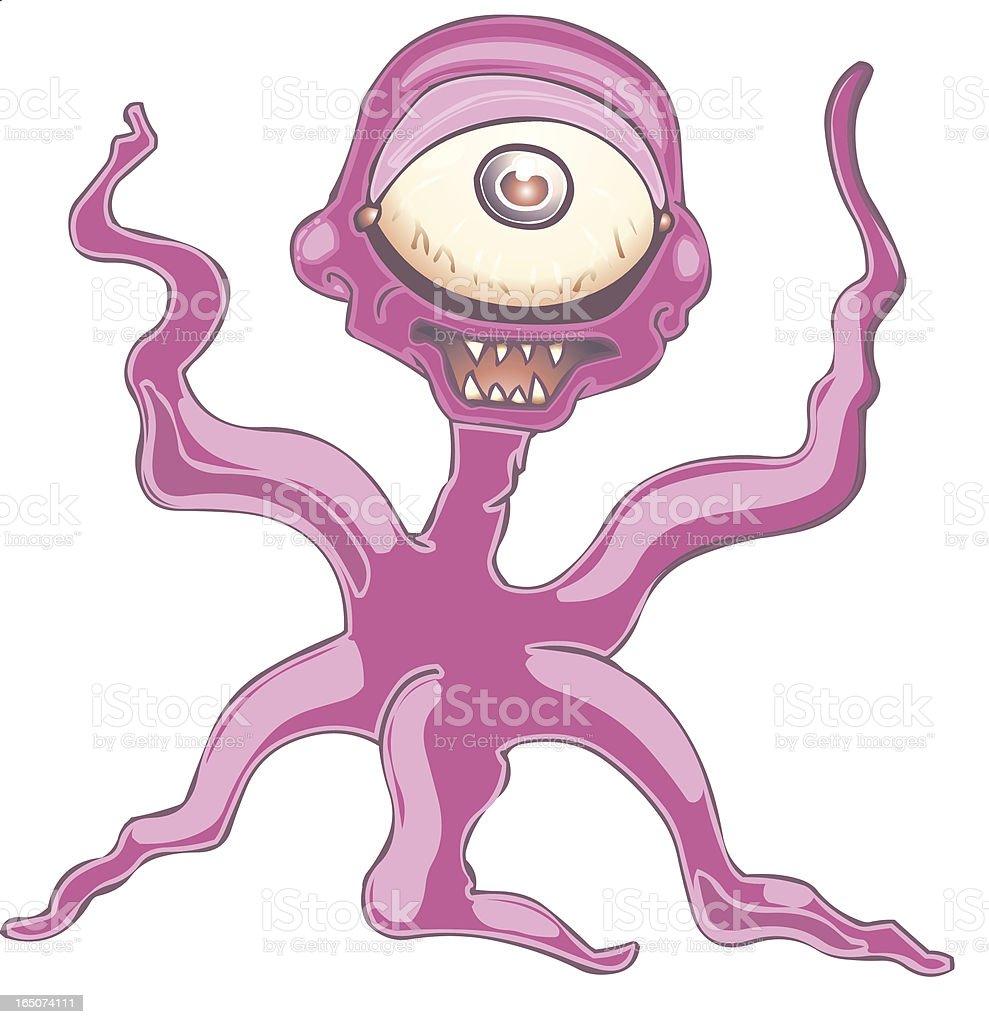 Tentacle Monster royalty-free stock vector art
