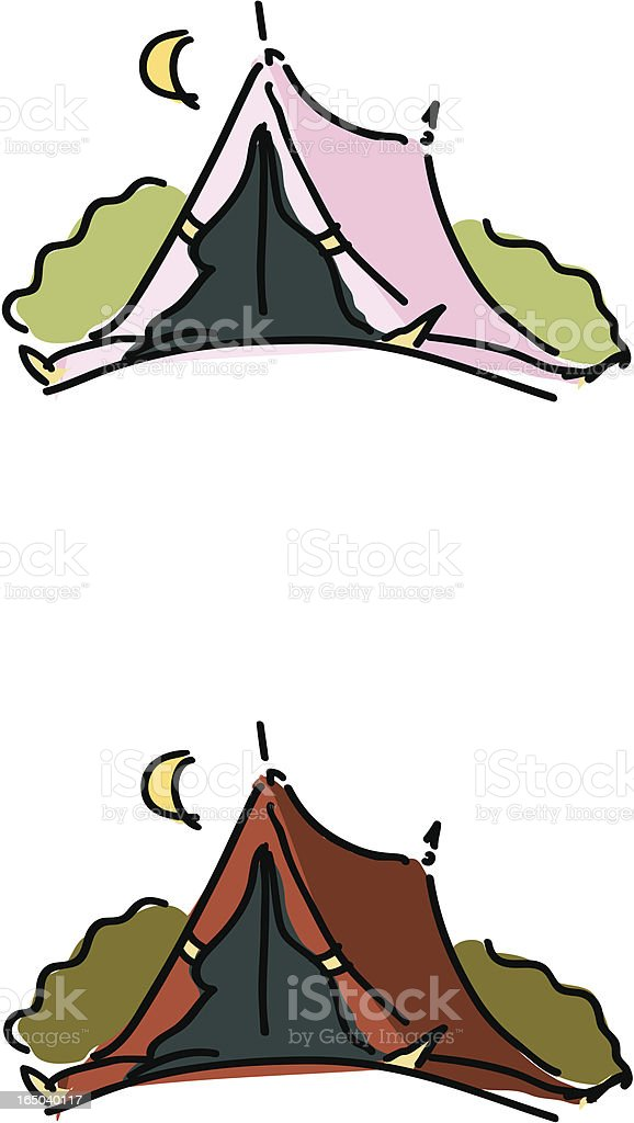 Tents royalty-free stock vector art