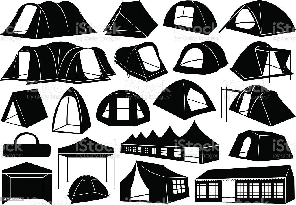 Tents vector art illustration