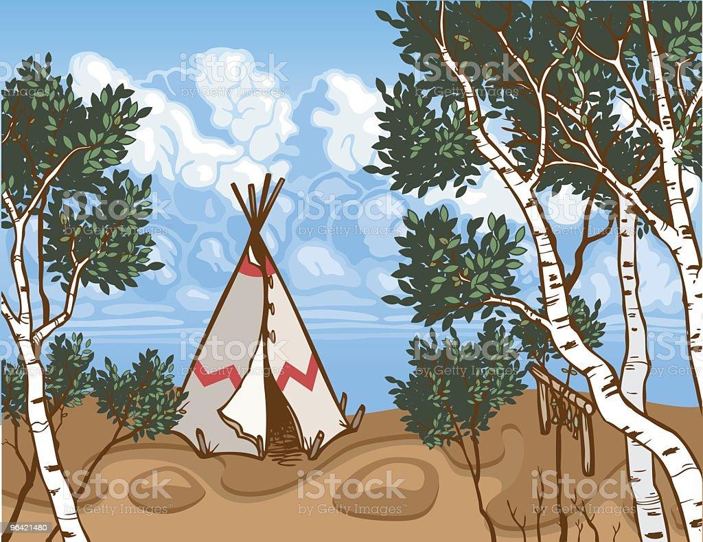 Tepee Wilderness royalty-free stock vector art
