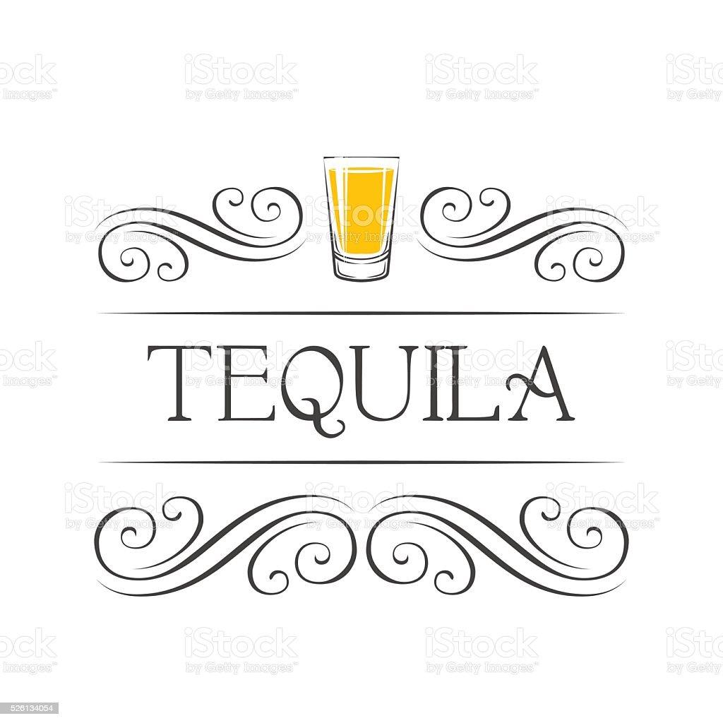 Tequila. Bar Menu. Vector vector art illustration
