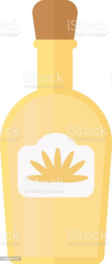 Tequila bottle vector illustration. vector art illustration