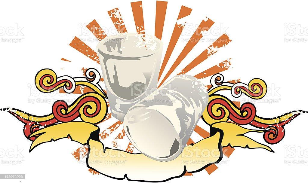 tequila shot glasses emblem royalty-free stock vector art