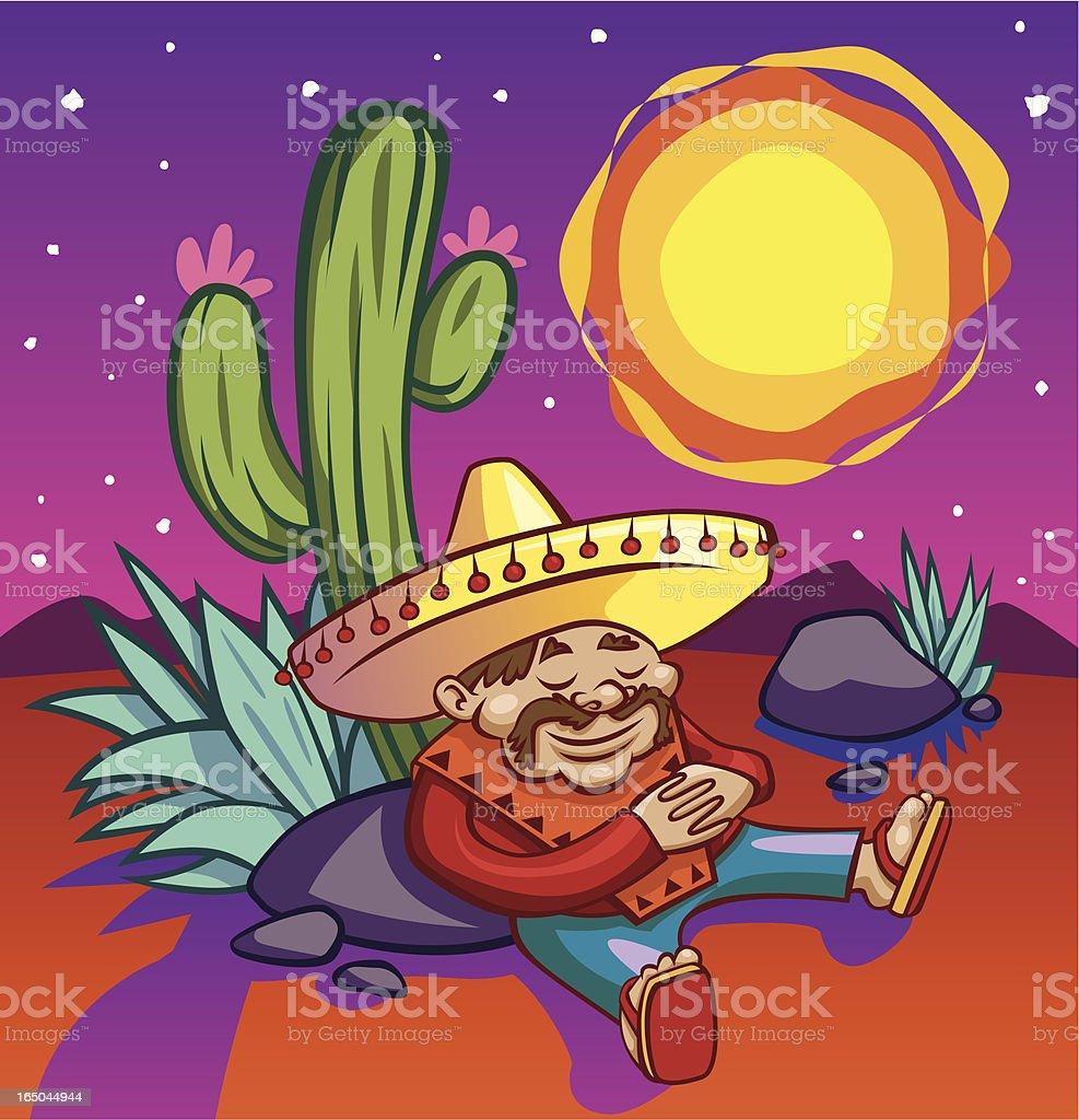 Tequila Sunrise royalty-free stock vector art