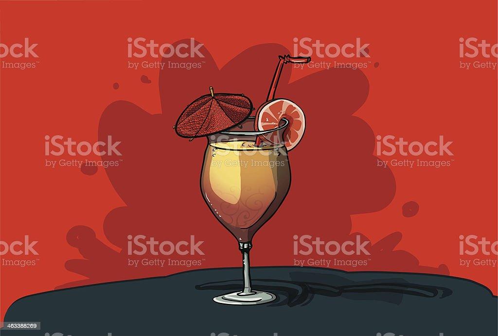 Tequila Sunrise vector art illustration