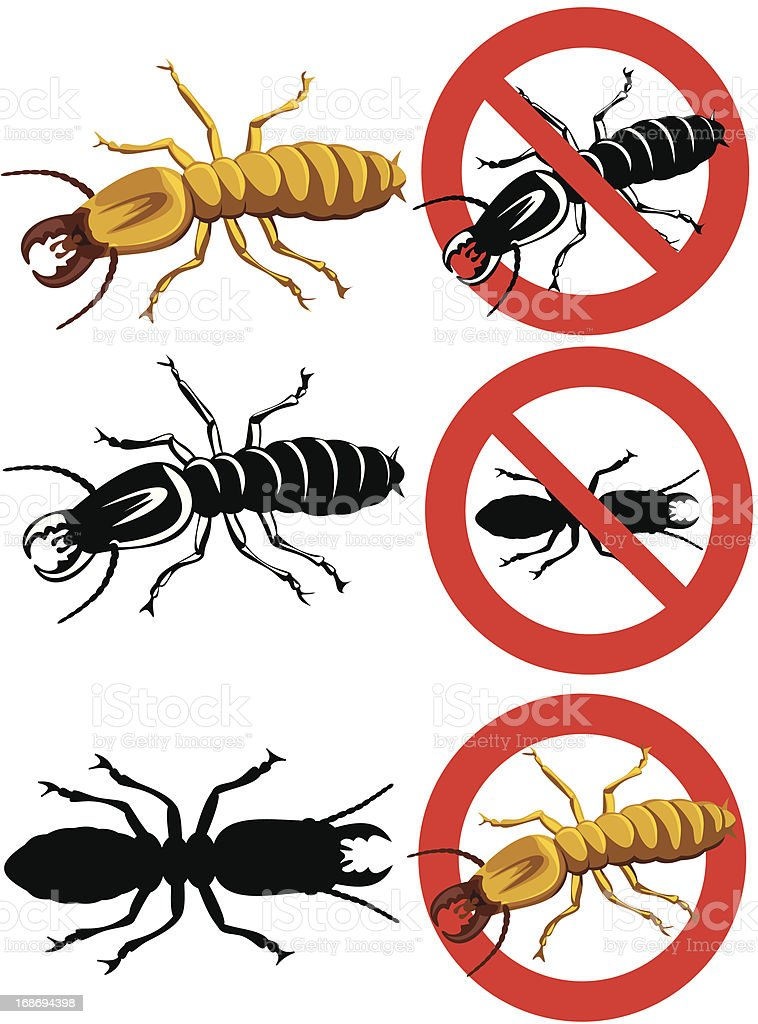 termite - warning signs royalty-free stock vector art