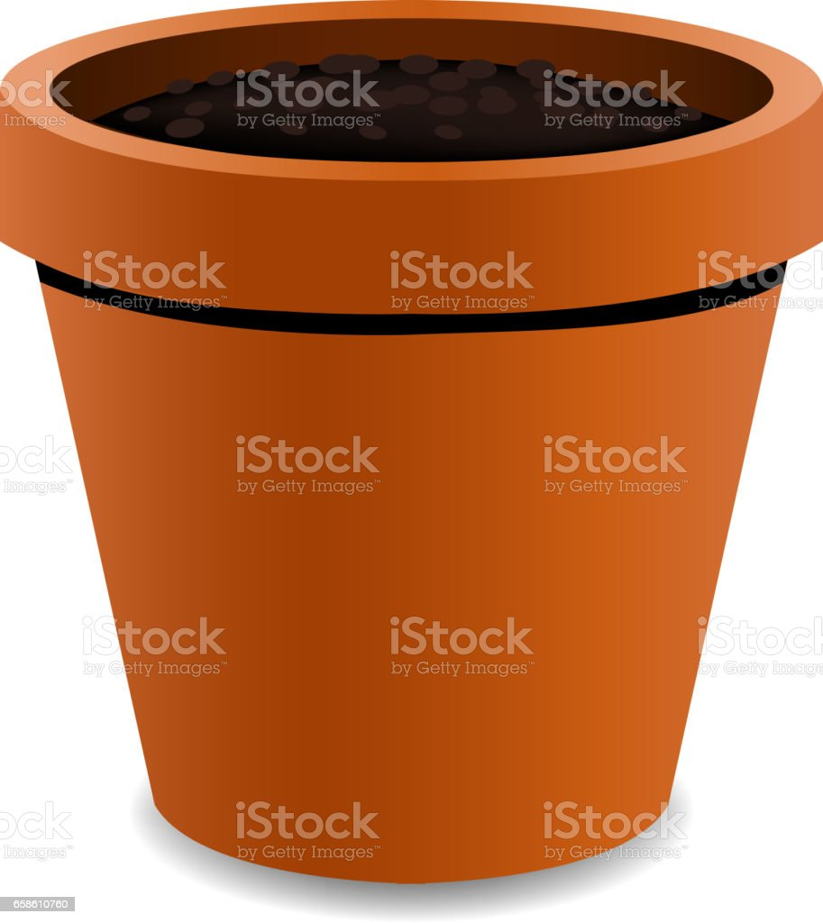 Terracotta Pot vector art illustration