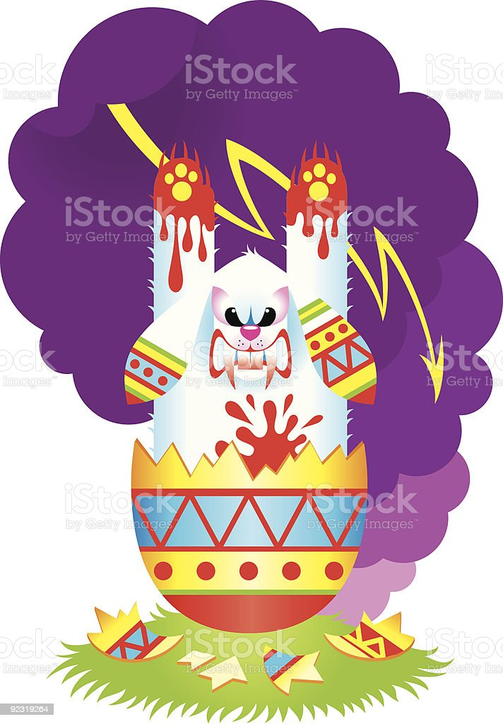Terrible Easter Rabbit royalty-free stock vector art