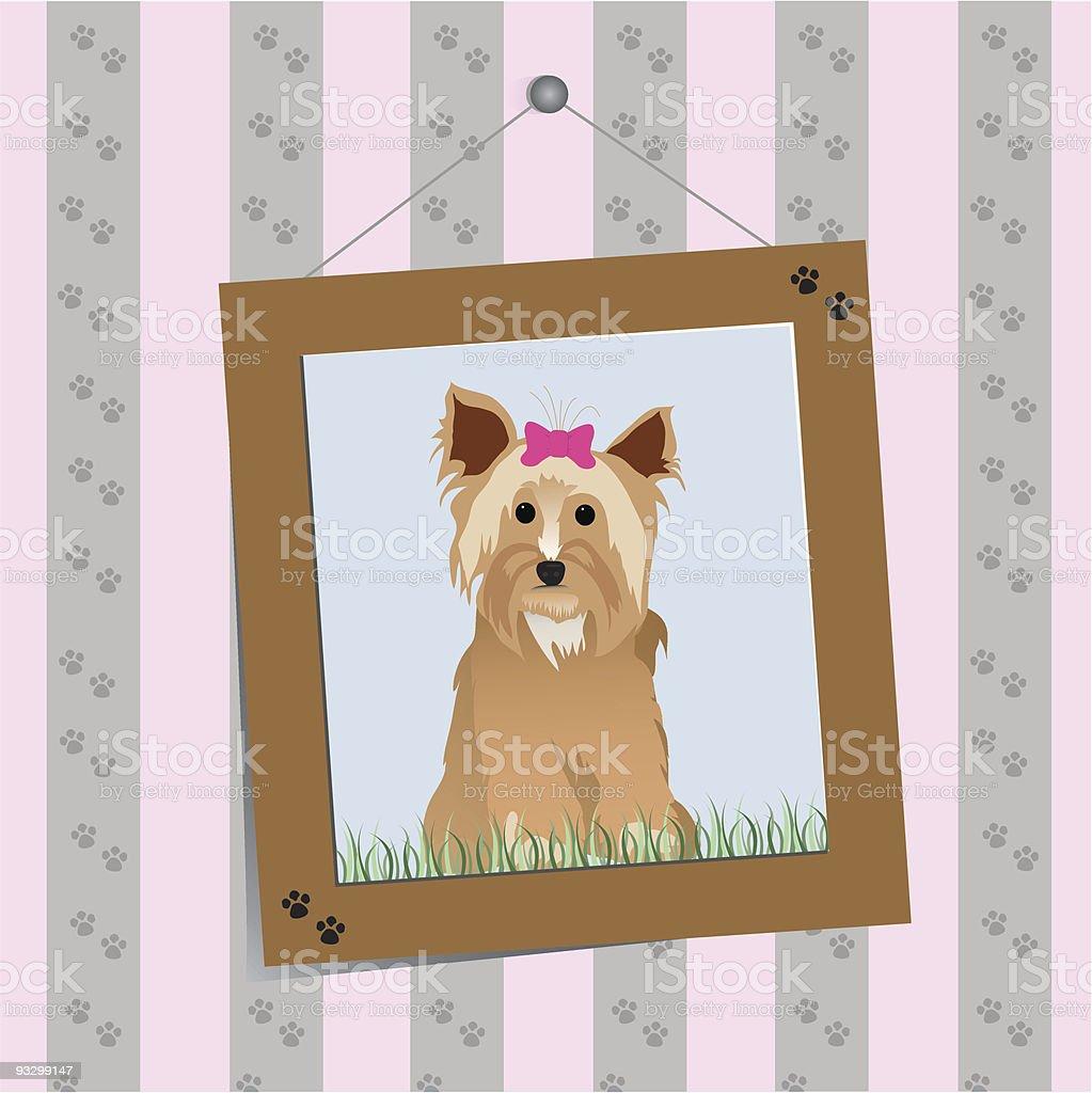 Terrier Portrait royalty-free stock vector art