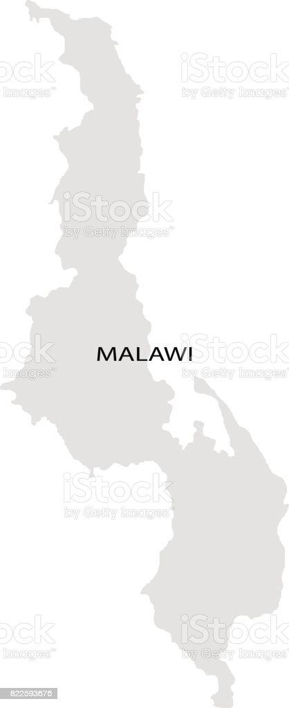 Territory of  Malawi vector art illustration