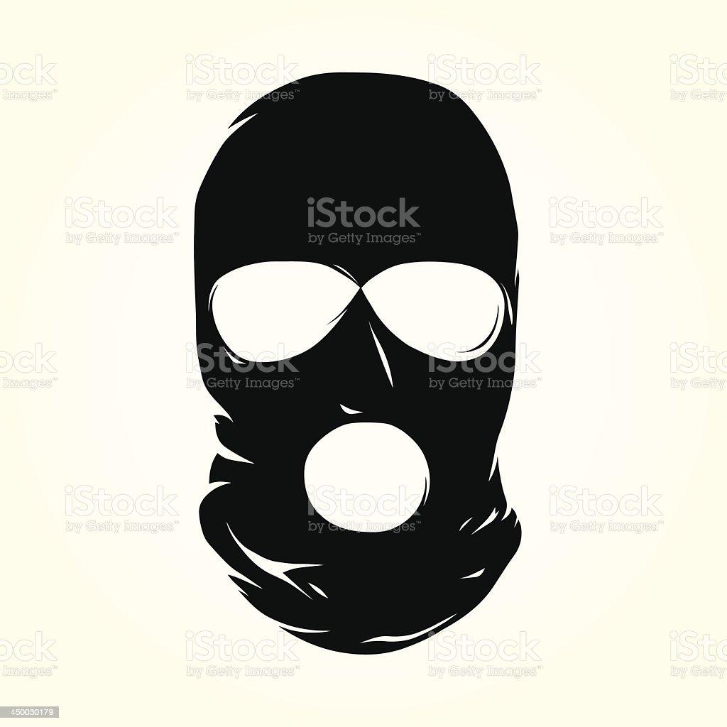 Terrorist mask vector art illustration