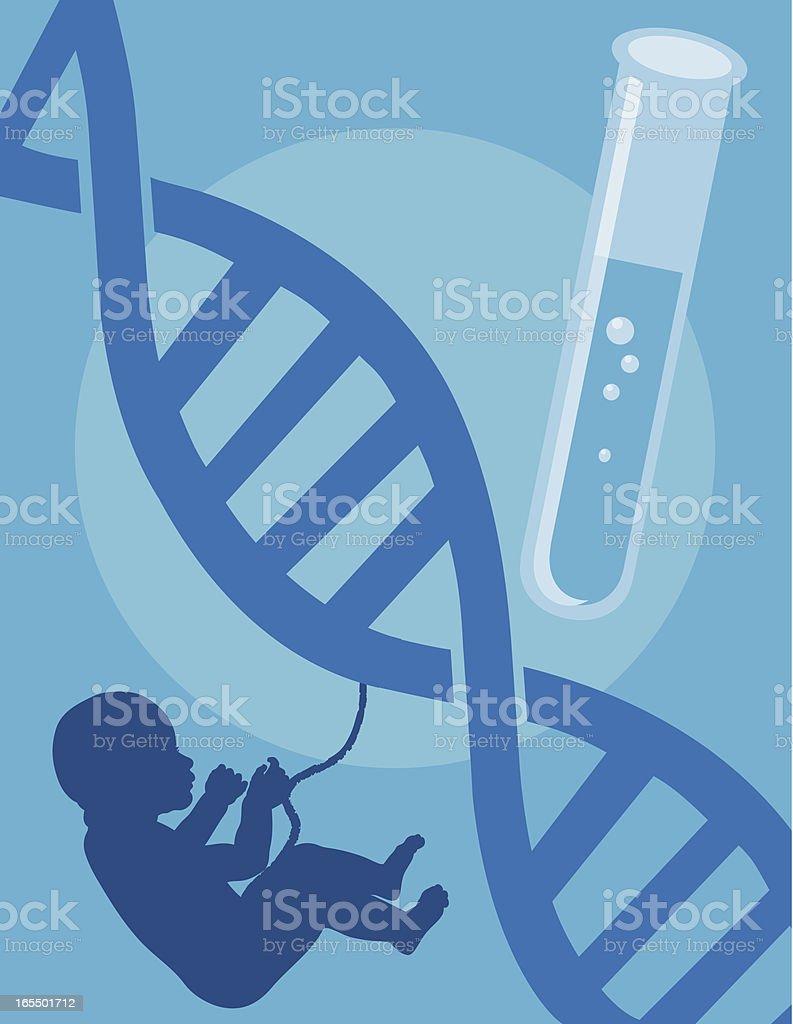 Test Tube Baby vector art illustration