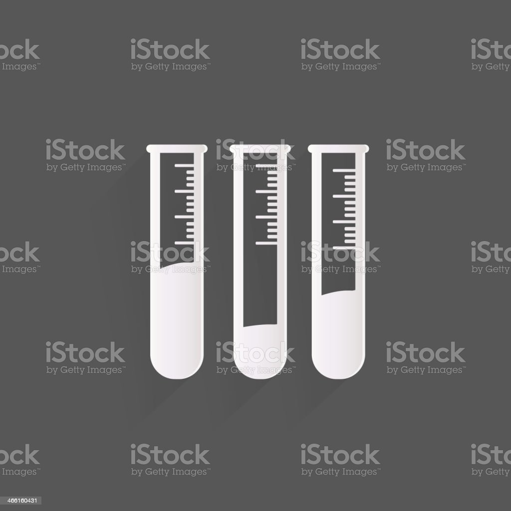 Test tube icon, microbiology equipment royalty-free stock vector art