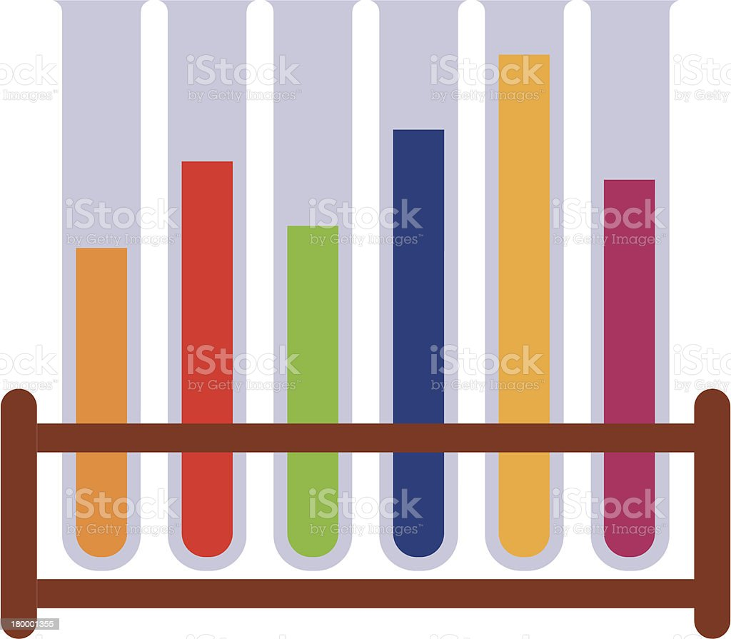 test tube rack royalty-free stock vector art
