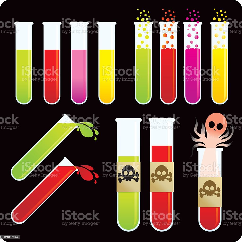 Test Tubes and chemicals royalty-free stock vector art