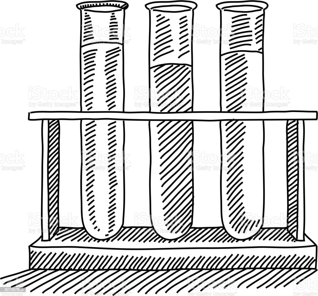 Vector Drawing Lines Quiz : Reagenzgläser zeichnung vektor illustration istock