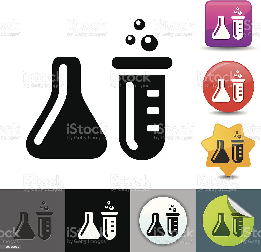 Test tubes icon | solicosi series royalty-free stock vector art