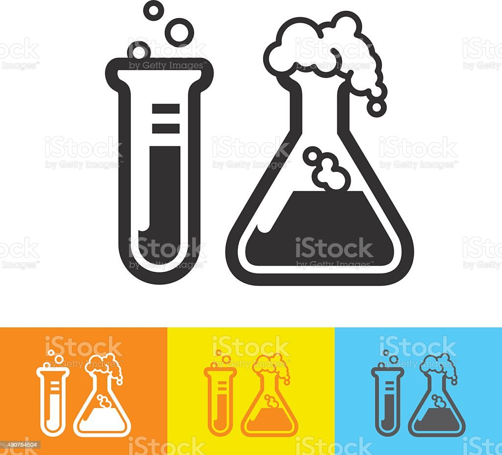 Test tubes icon vector art illustration