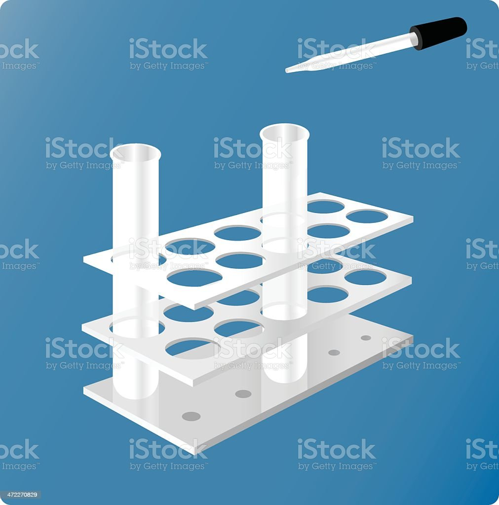 Test Tubes [vector] royalty-free stock vector art