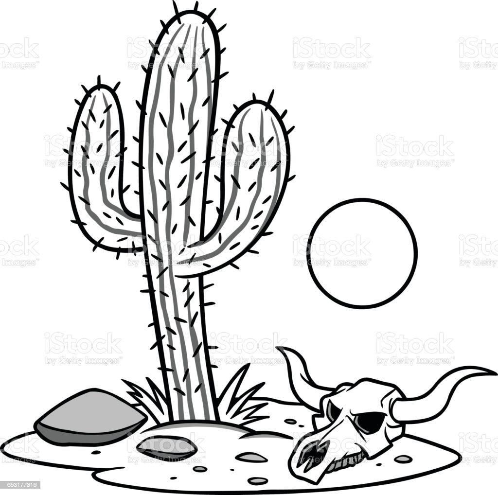 Texas Desert Illustration vector art illustration