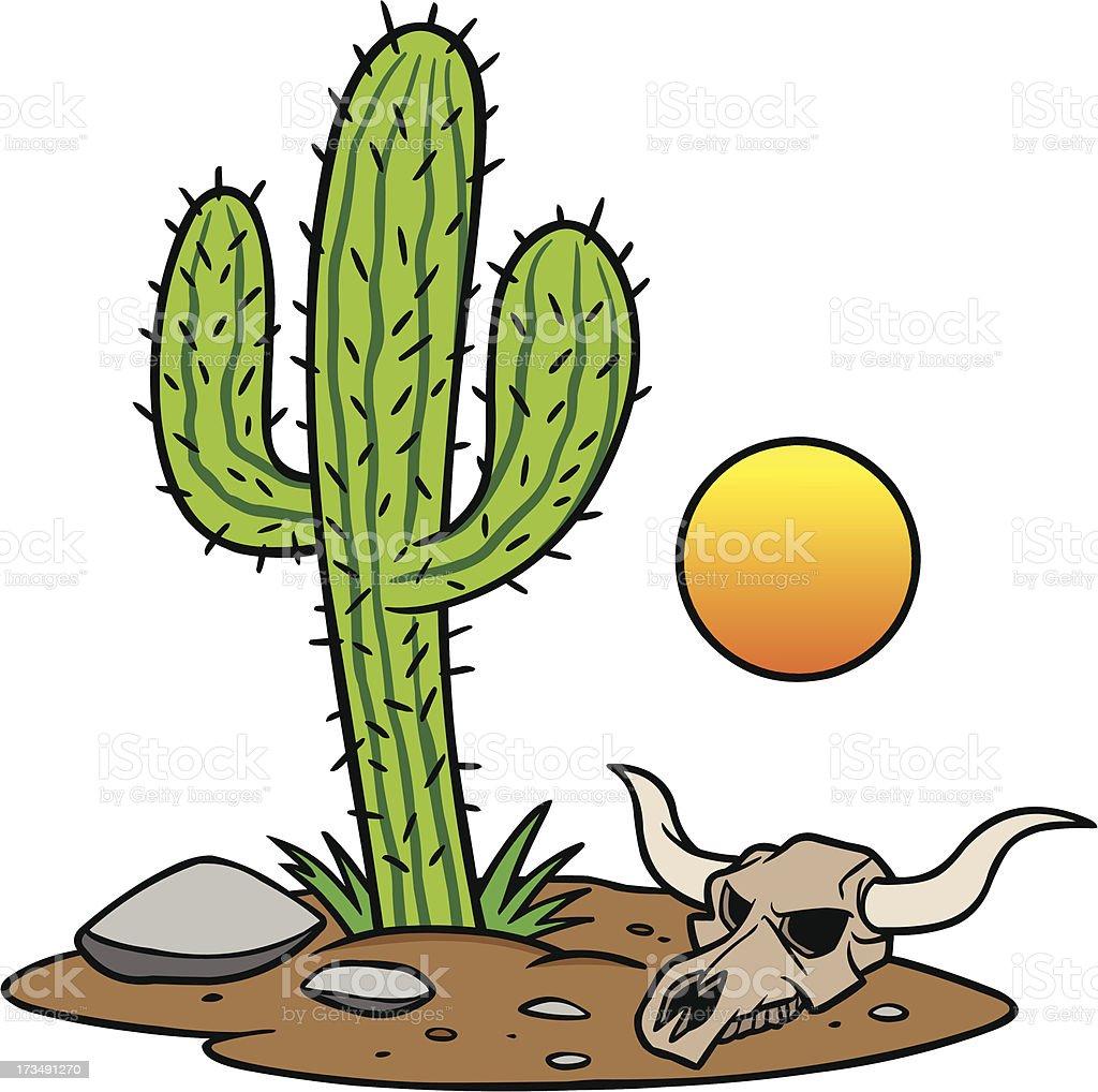 Texas Desert vector art illustration