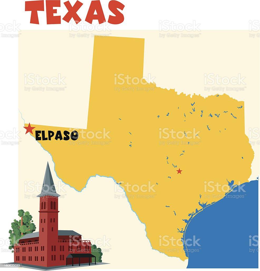 Texas - El Paso vector art illustration