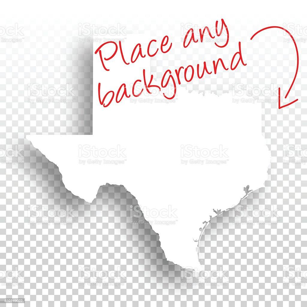 Texas Map for design - Blank Background vector art illustration