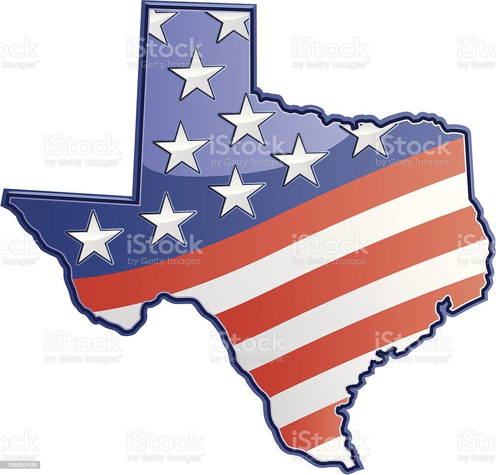 Texas Patriotic royalty-free stock vector art