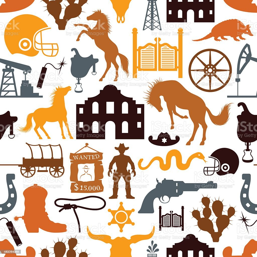 Texas Pattern vector art illustration