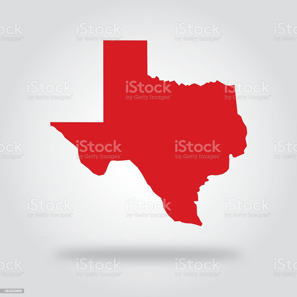 Texas Red State Icon vector art illustration