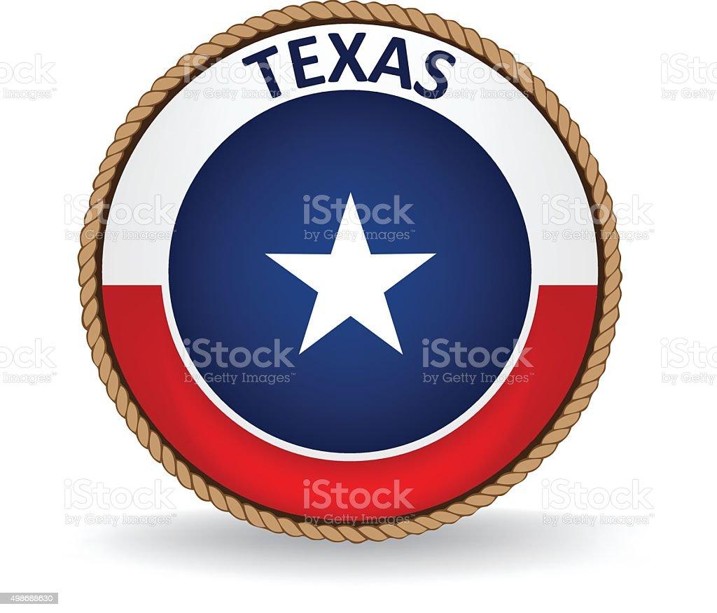 Texas Seal vector art illustration