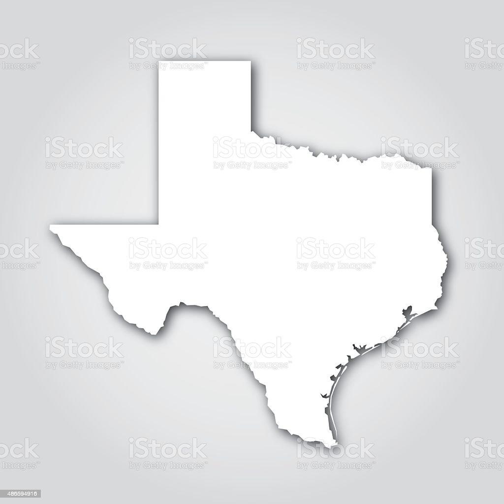 Texas Silhouette White vector art illustration