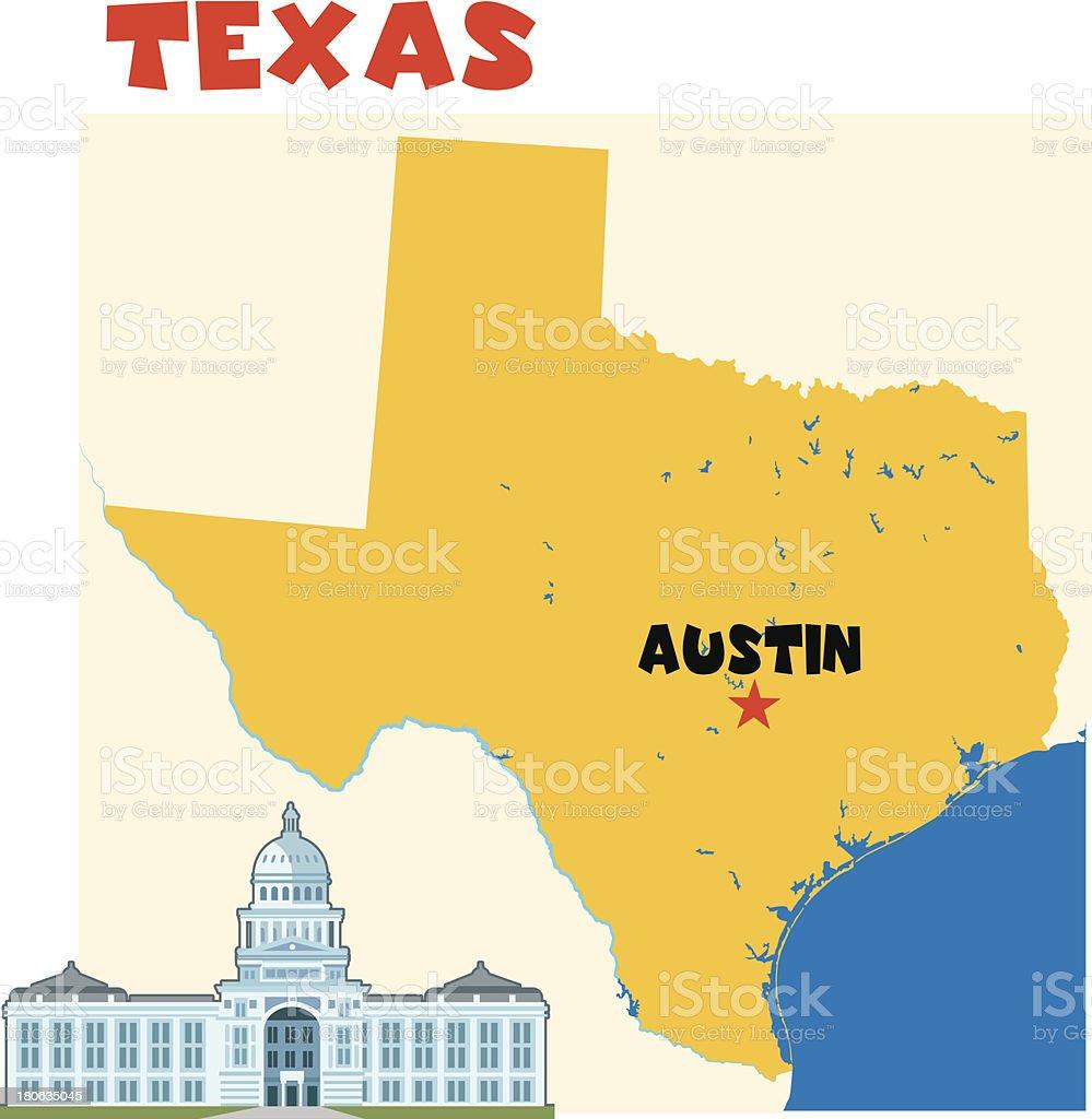 Texas-Austin vector art illustration