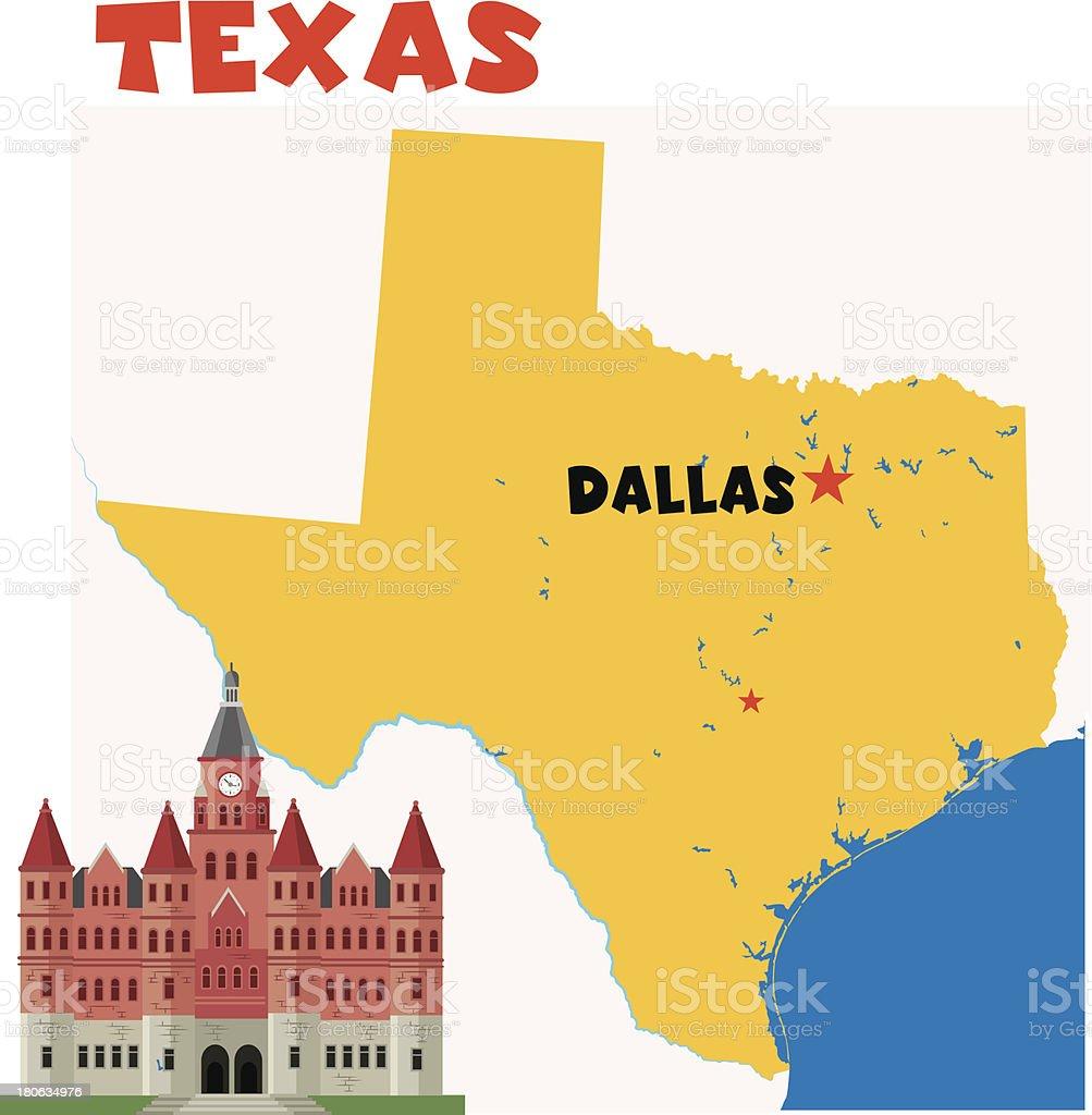 Texas-Dallas royalty-free stock vector art