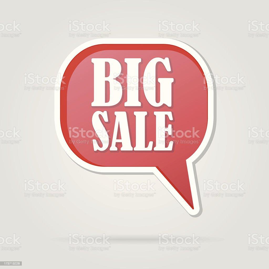 text bubble BIG SALE royalty-free stock vector art